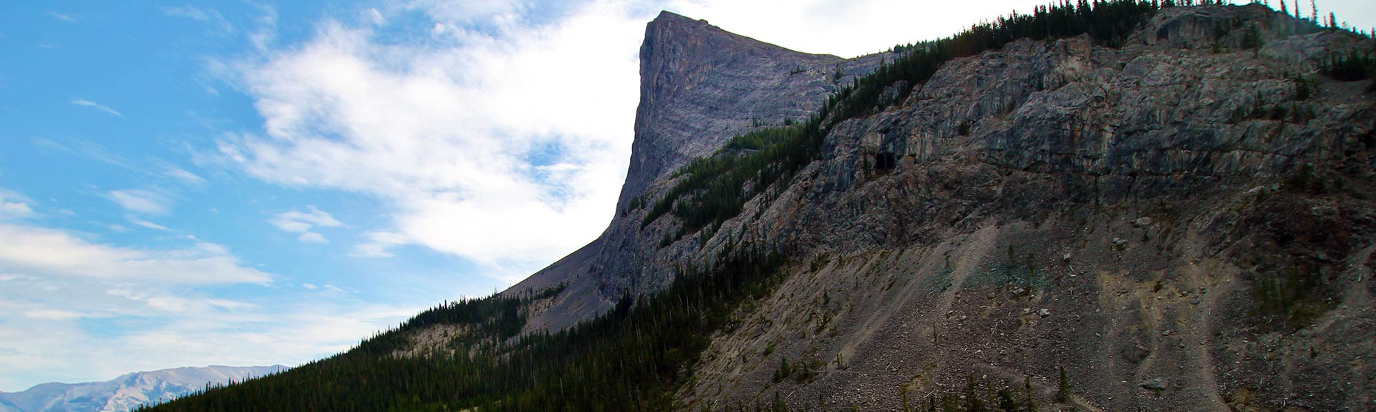 At the base of Ha Ling Peak, one of many mountins near Canmore, Alberta